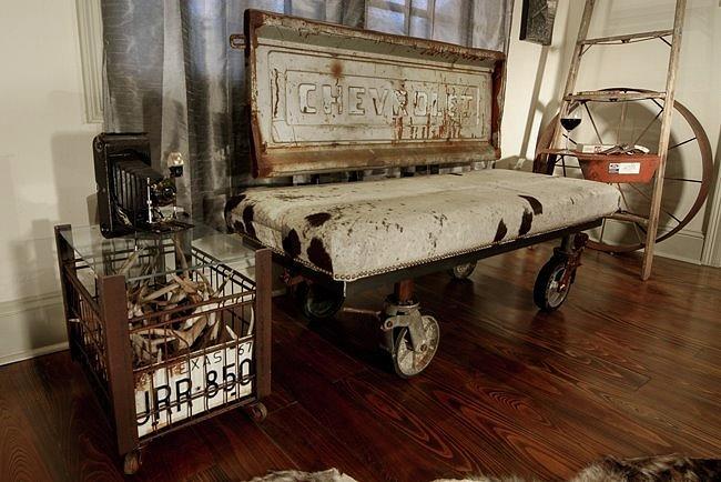 cow skin truck bed 01 mixed media by benjamin bullins. Black Bedroom Furniture Sets. Home Design Ideas