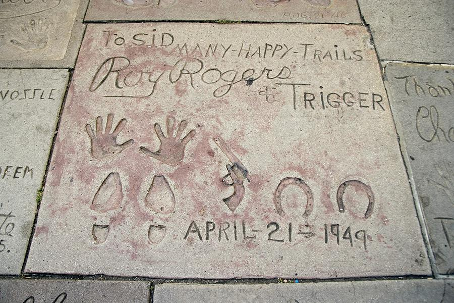 History Photograph - Cowboy Actor Roy Rogers Hand by Everett