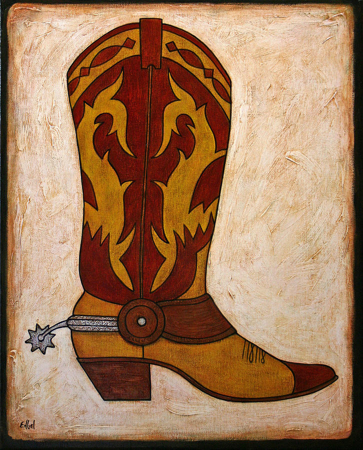 Cowboy Boot Painting By Norman Engel