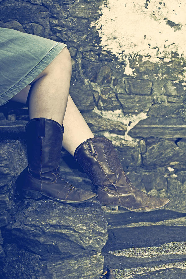 Legs Photograph - Cowboy Boots by Joana Kruse