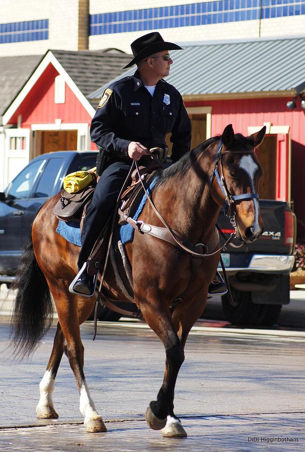 Cowboy Photograph - Cowboy Cop by DiDi Higginbotham