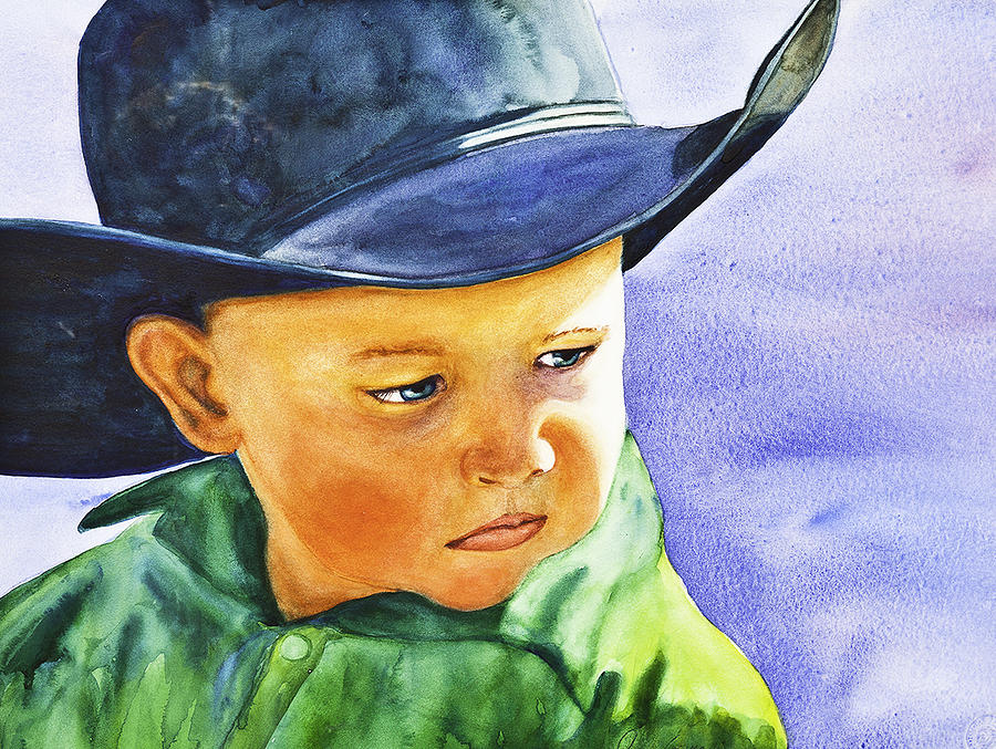 People Painting - Cowboy by Jayne Spencer