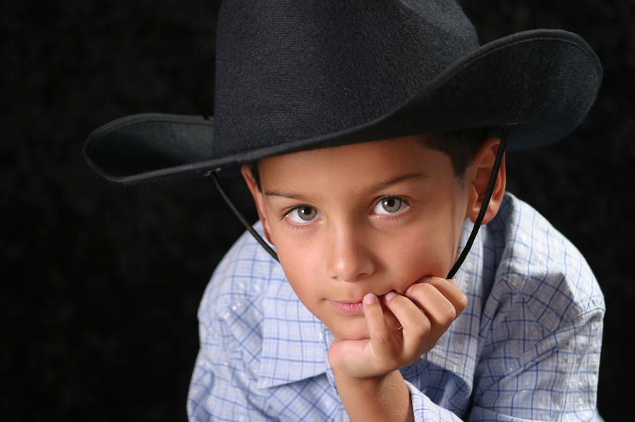 People Photograph - Cowboy by Richard Baptiste