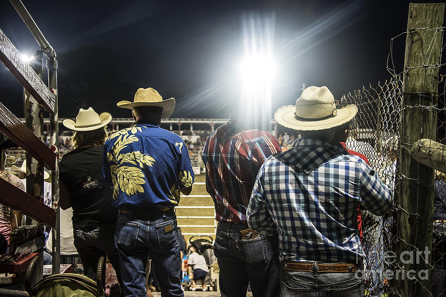 America Photograph - Cowboys At Rodeo by John Greim