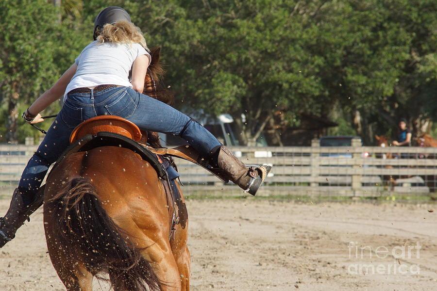 Cowgirl Photograph - Cowgirl Away by Lynda Dawson-Youngclaus
