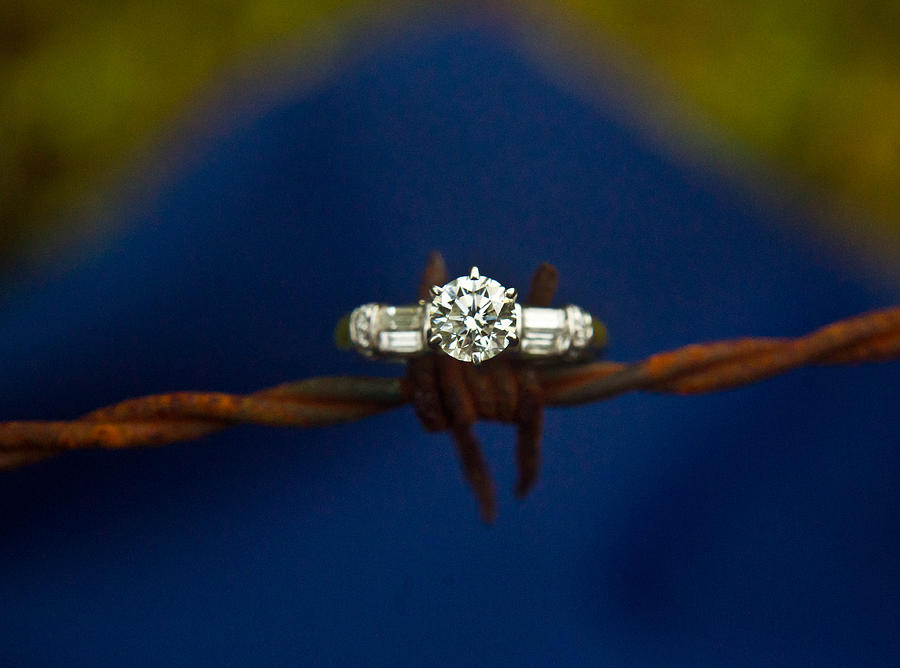 Cowgirl Photograph - Cowgirl Engagement Ring 1 by Douglas Barnett