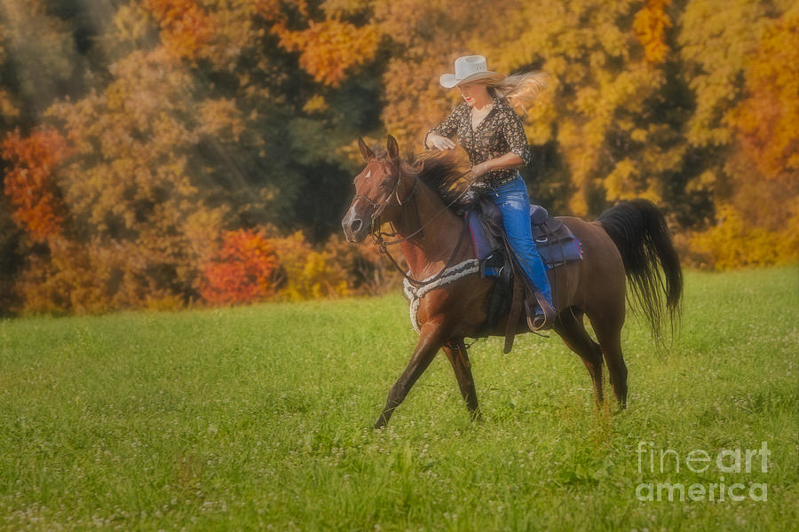 Horse Photograph - Cowgirl by Susan Candelario
