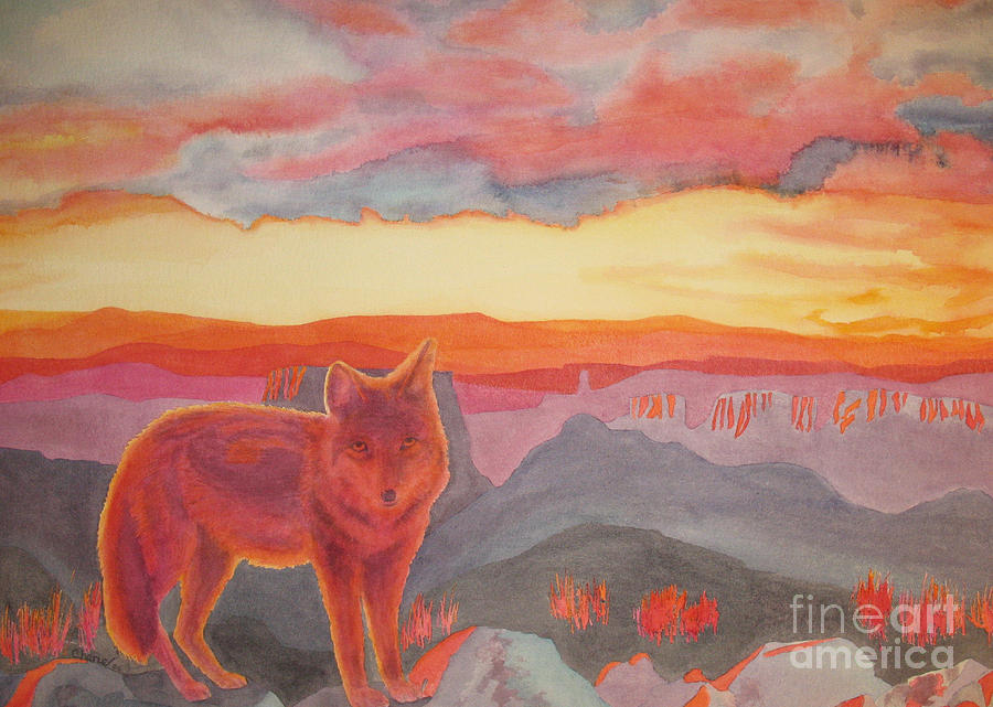 Coyote Painting - Coyote Cliff by Vikki Wicks