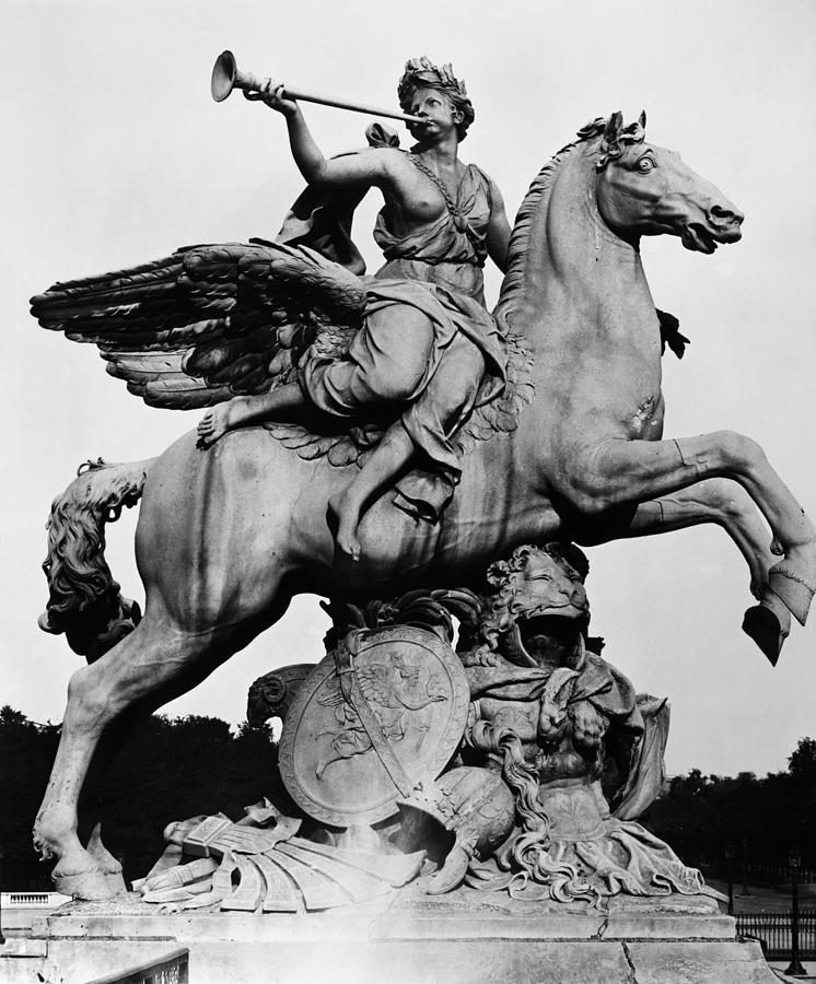 1699 Photograph - Coysevox: Fame And Pegasus by Granger