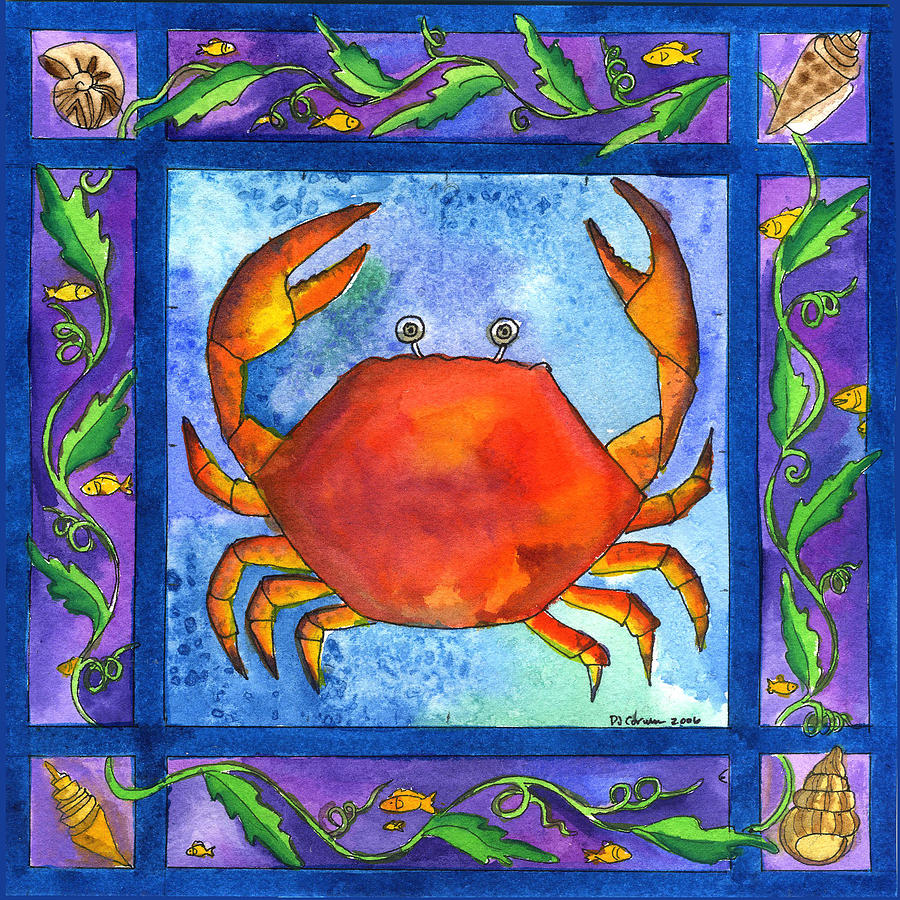Crab Painting - Crab by Pamela  Corwin