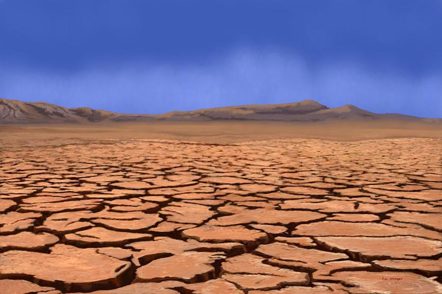 Desert Painting - Cracked Earth by Tim Stringer