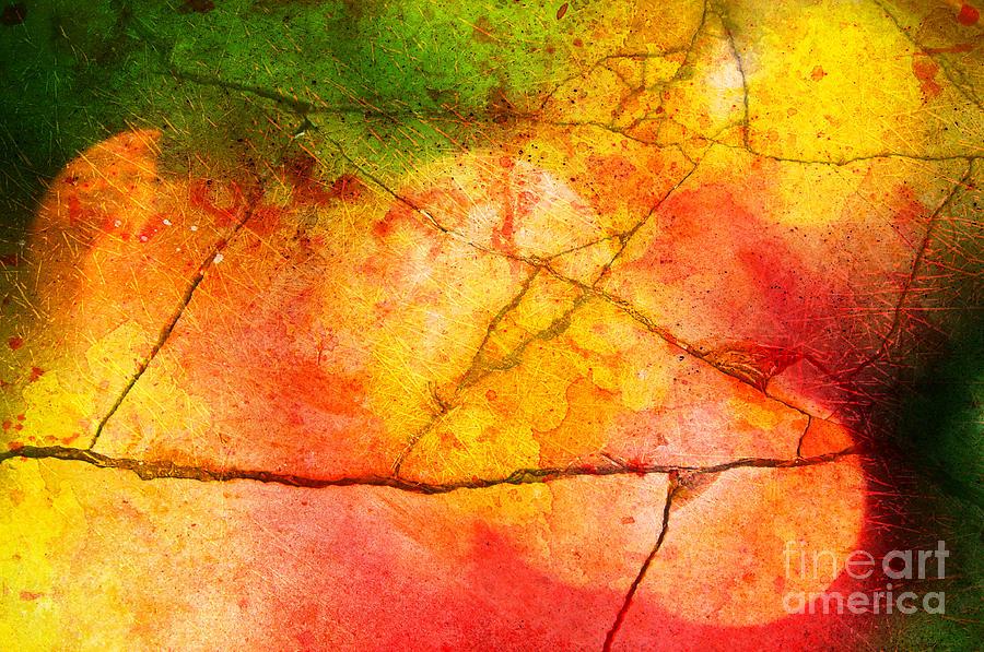 Vibrant Photograph - Cracked Kaleidoscope by Silvia Ganora