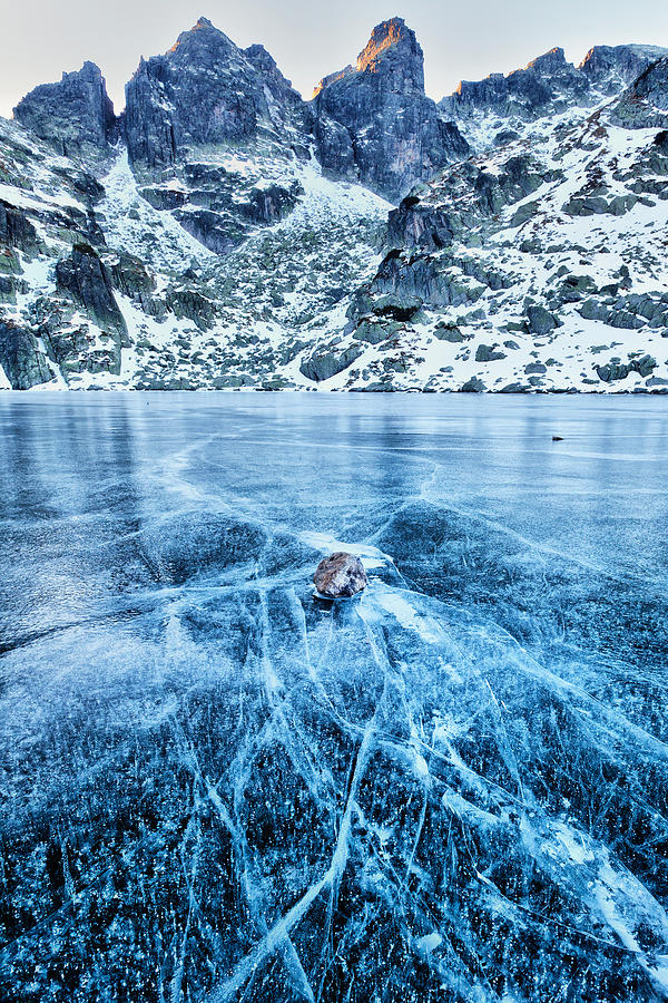 Bulgaria Photograph - Cracks In The Ice by Evgeni Dinev
