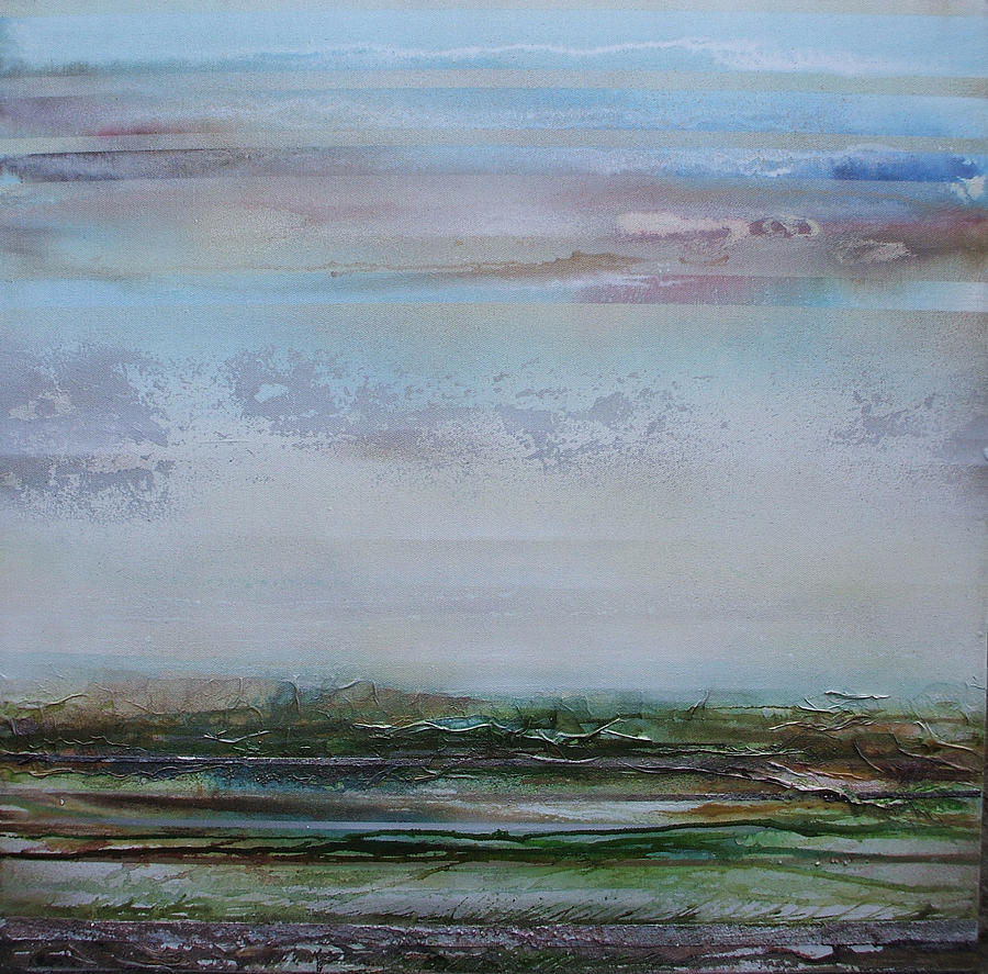 Crags Mixed Media - Crags Roman Wall Country Northumberland by Mike   Bell