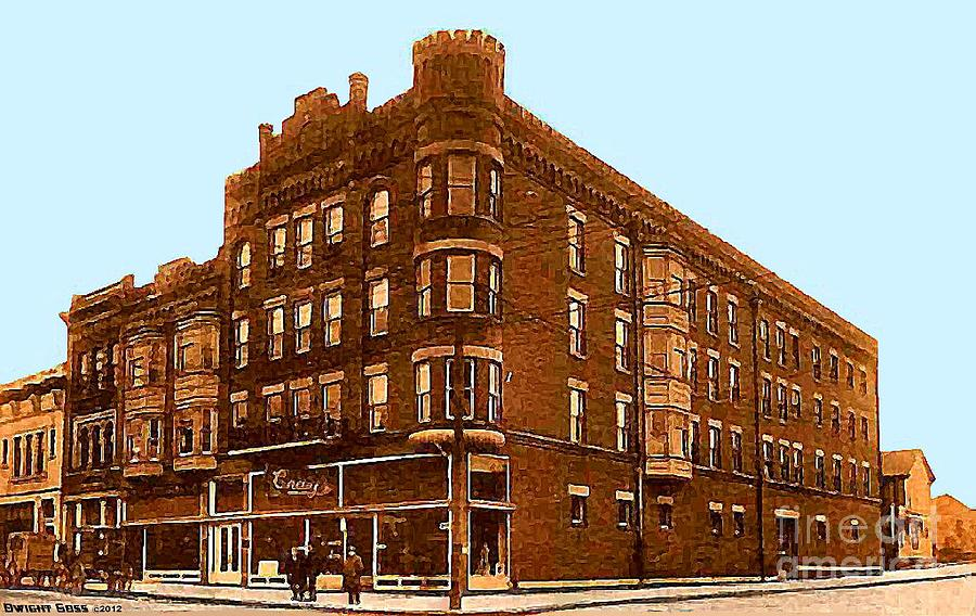 Department Stores Painting - Craig And Sons Department Store In Cambridge Oh by Dwight Goss
