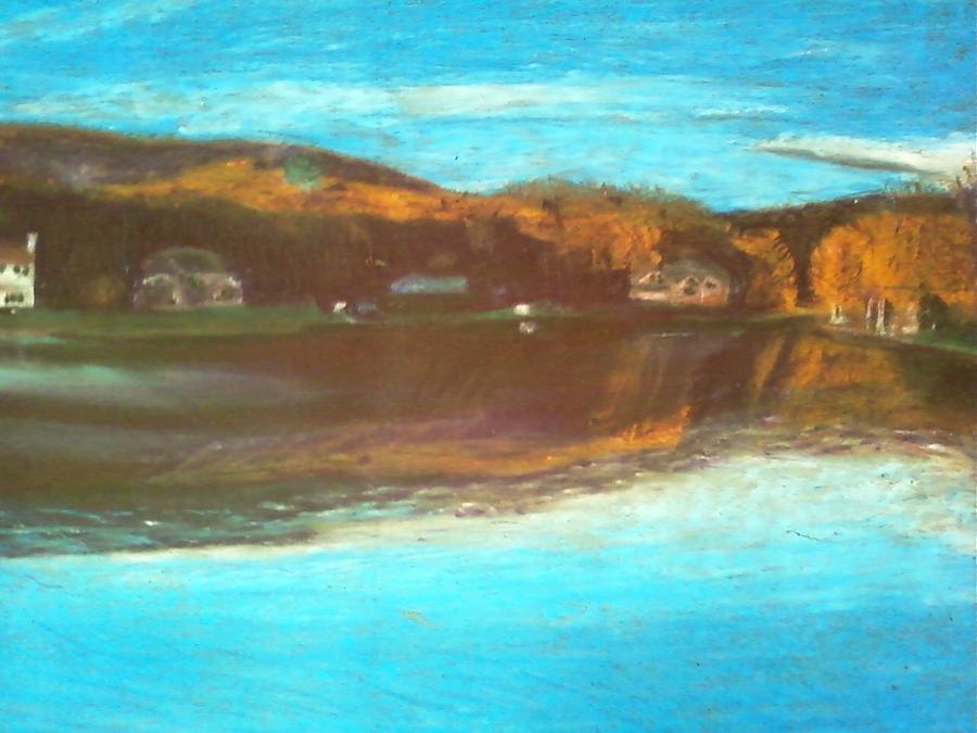Lake Painting - Crandon Lakes In November by Samuel McMullen