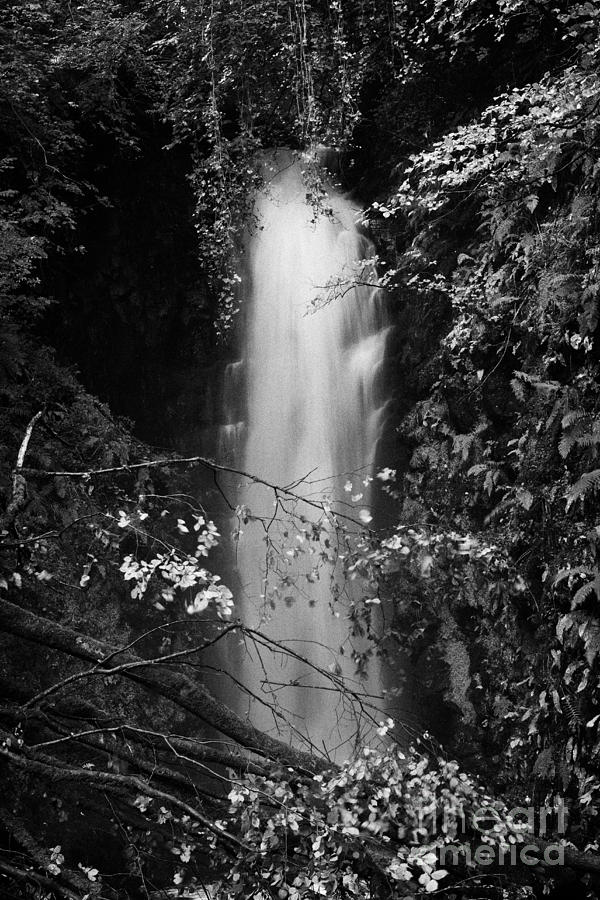 Waterfall Photograph - Cranny Falls Waterfall Carnlough County Antrim Northern Ireland Uk by Joe Fox
