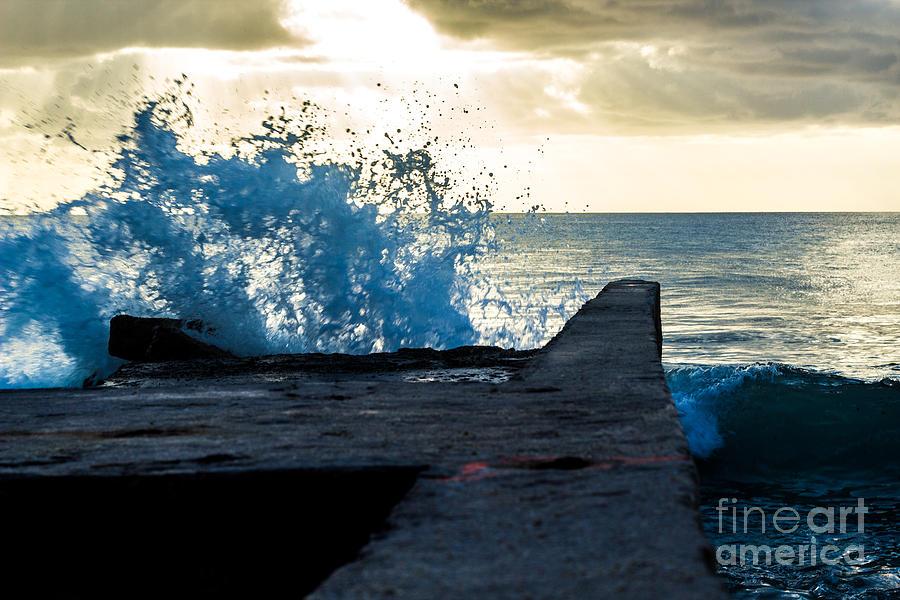 Bvi Photograph - Crashing Blue by Rene Triay Photography