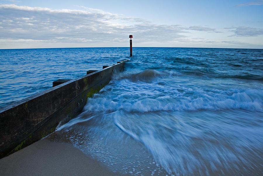 Bournemouth Photograph - Crashing Waves At Bournemouth Beach by Ian Middleton