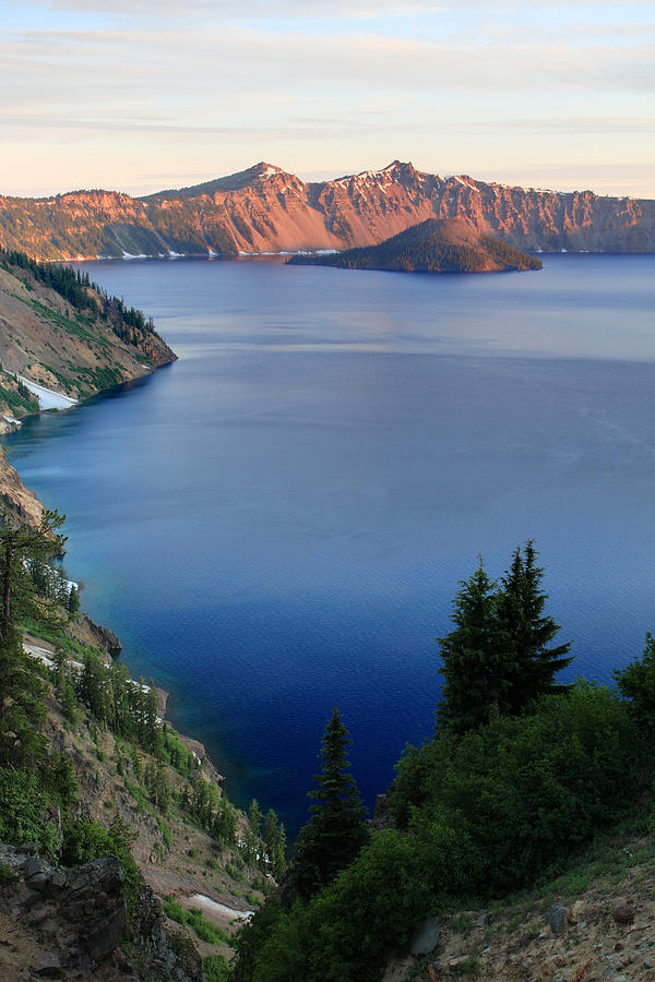 Crater Lake Photograph - Crater Lake Sunrise by Pierre Leclerc Photography