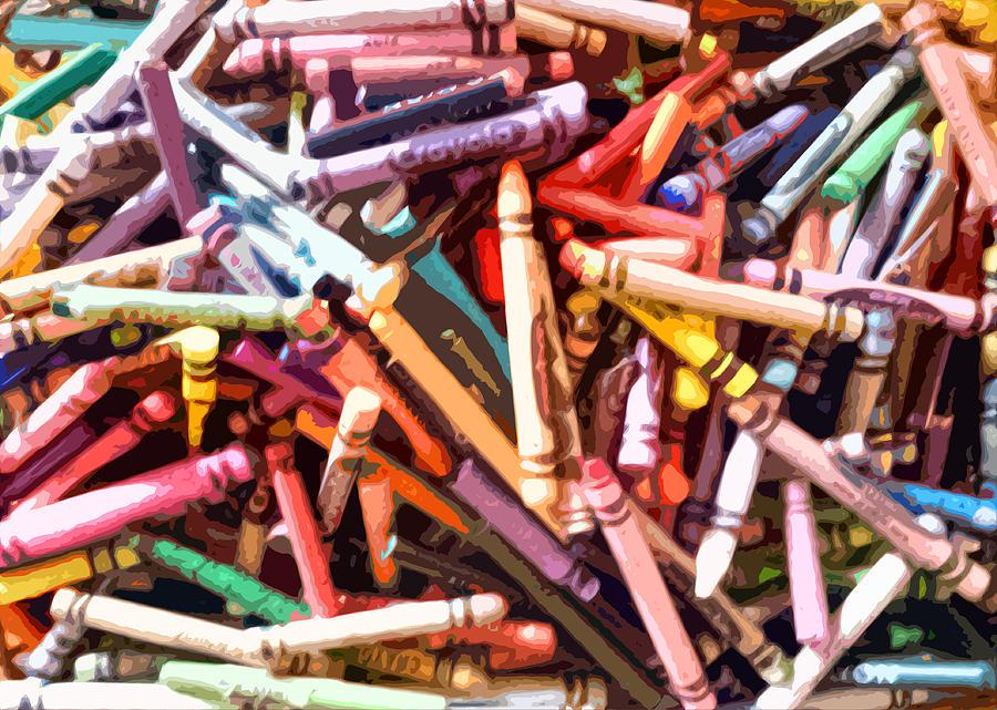 Colorful Photograph - Crayola by Bernadette Kazmarski
