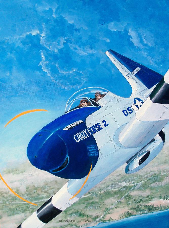 P-51 Mustang Painting - Crazy Horse Two by Dennis D Vebert