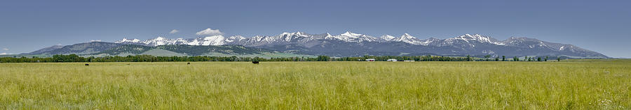 Americas Photograph - Crazy Mountain Range by Roderick Bley