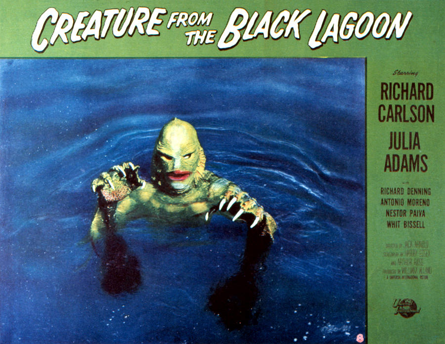1954 Movies Photograph - Creature From The Black Lagoon, 1954 by Everett