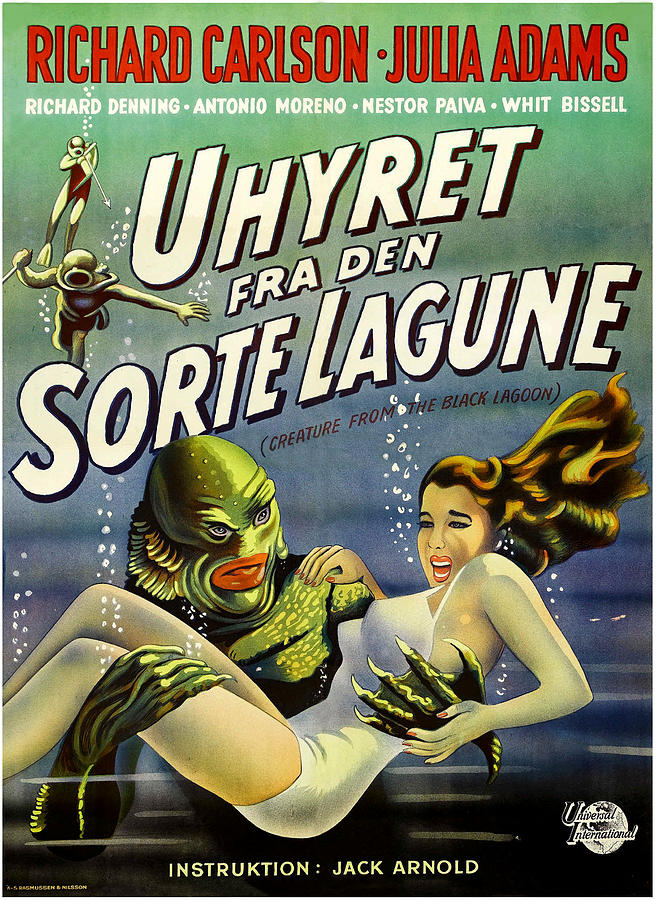 1950s Poster Art Photograph - Creature From The Black Lagoon, Aka by Everett