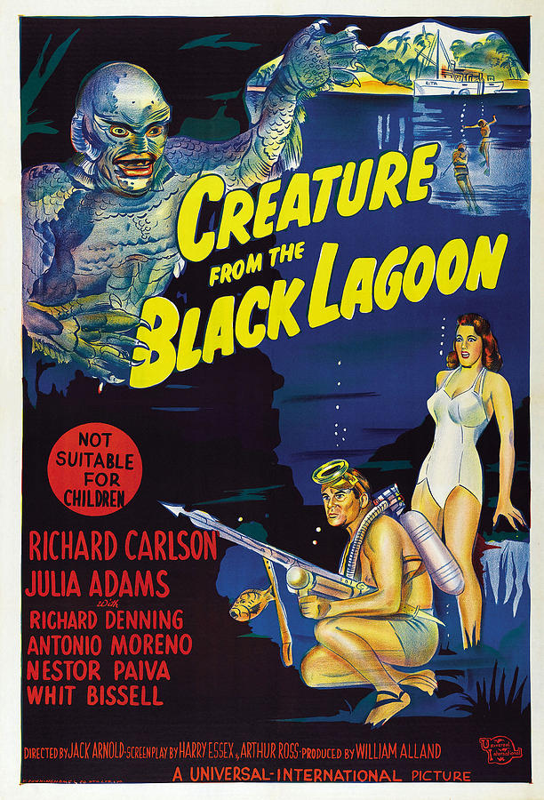 1954 Movies Photograph - Creature From The Black Lagoon, Bottom by Everett