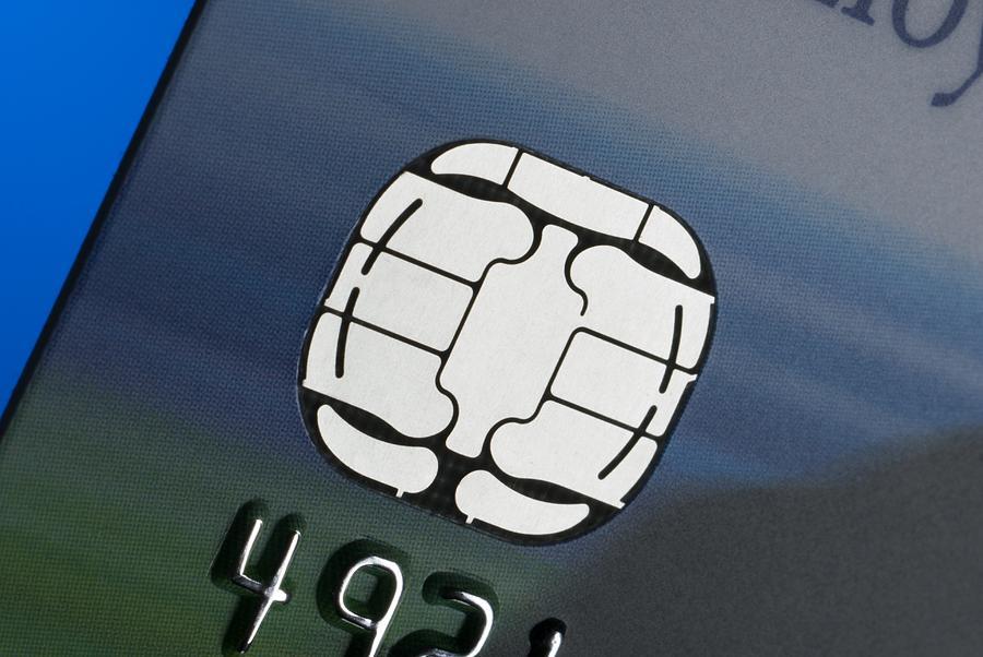Microchip Photograph - Credit Card Microchip by Steve Horrell