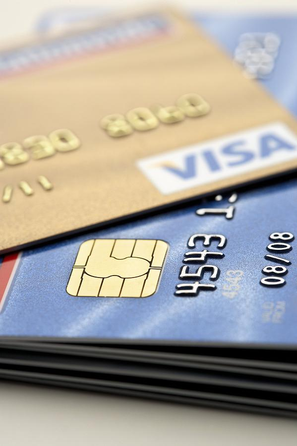 Microchip Photograph - Credit Cards by Jon Stokes