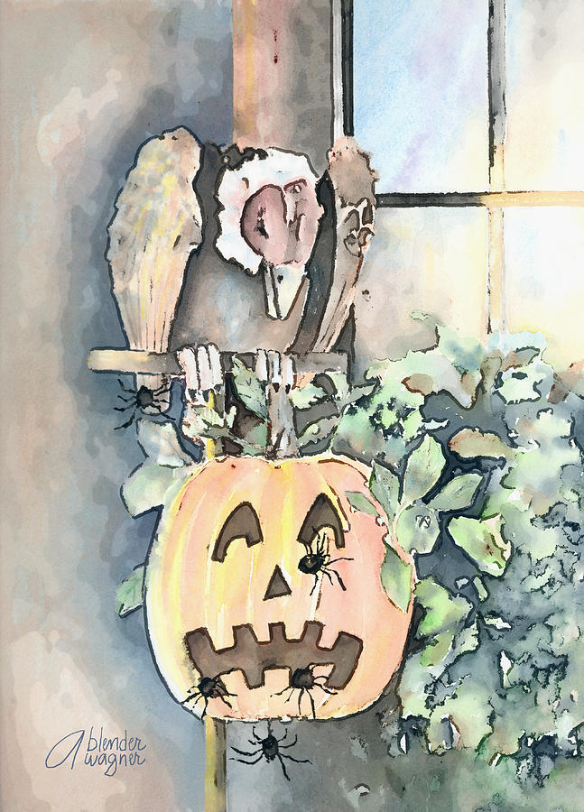 Halloween Mixed Media - Creepy Crawlers by Arline Wagner