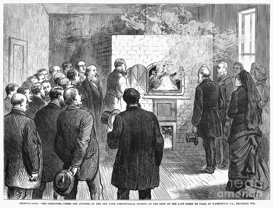 1876 Photograph - Cremation, 1876 by Granger