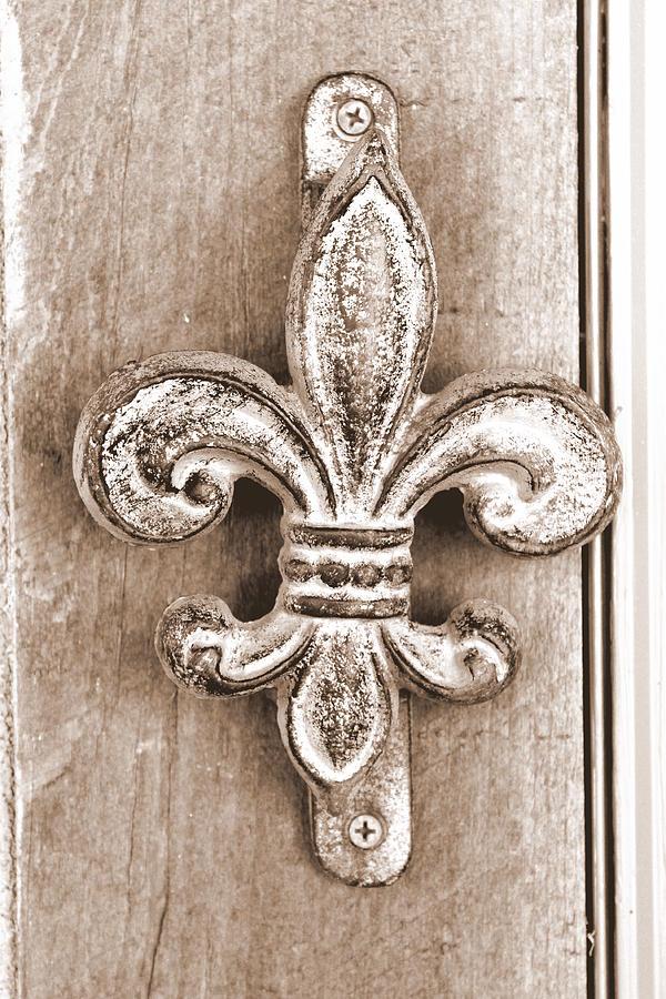Doorbell Photograph - Creole Knocker by Hannah Miller