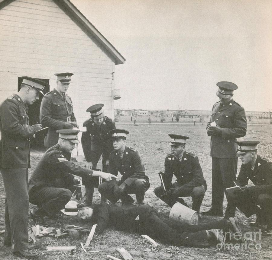 Historic Photograph - Crime Scene by Photo Researchers