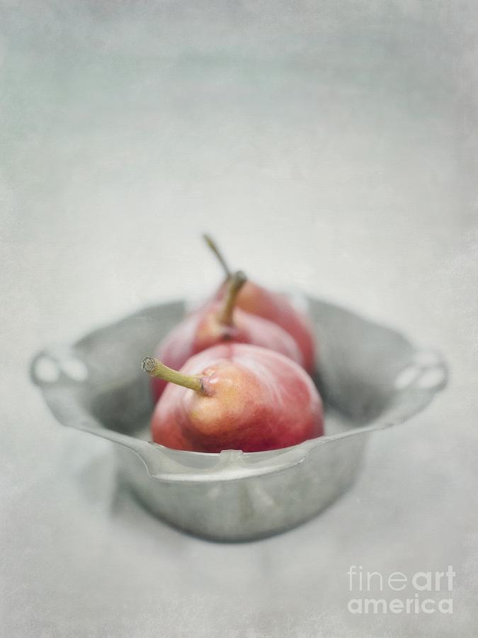 Pear Photograph - Crimson And Silver by Priska Wettstein