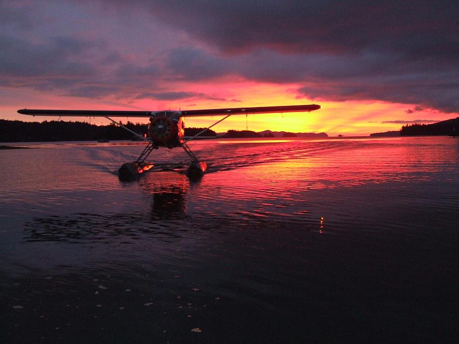 Aircraft Photograph - Crimson Skies by Mark Alan Perry