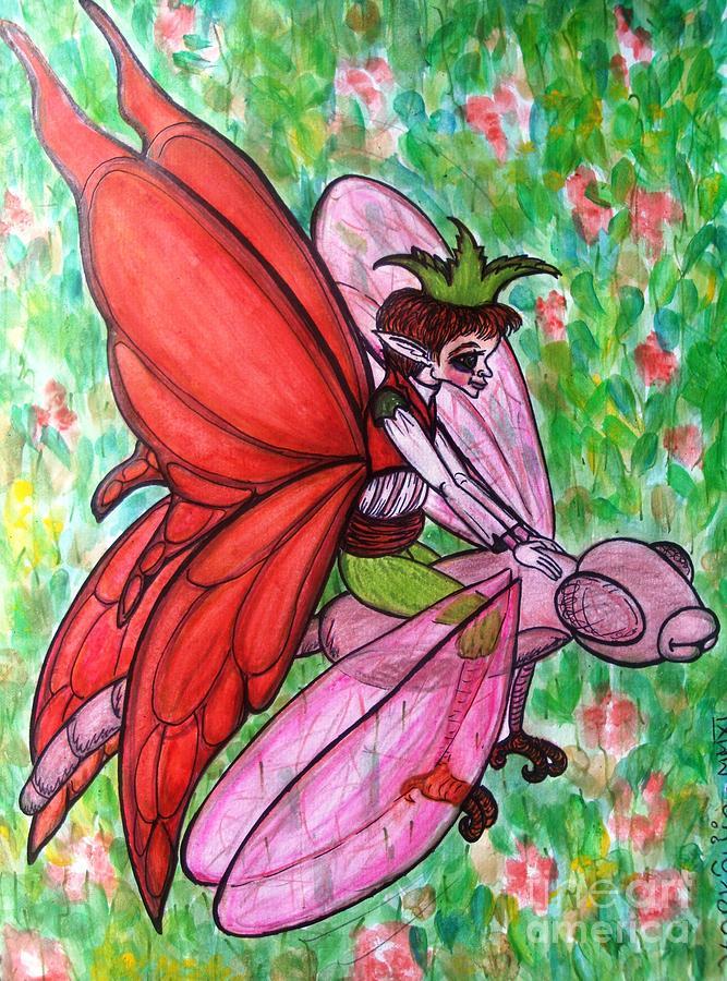 Crimson Painting - Crimson Wings by Koral Garcia