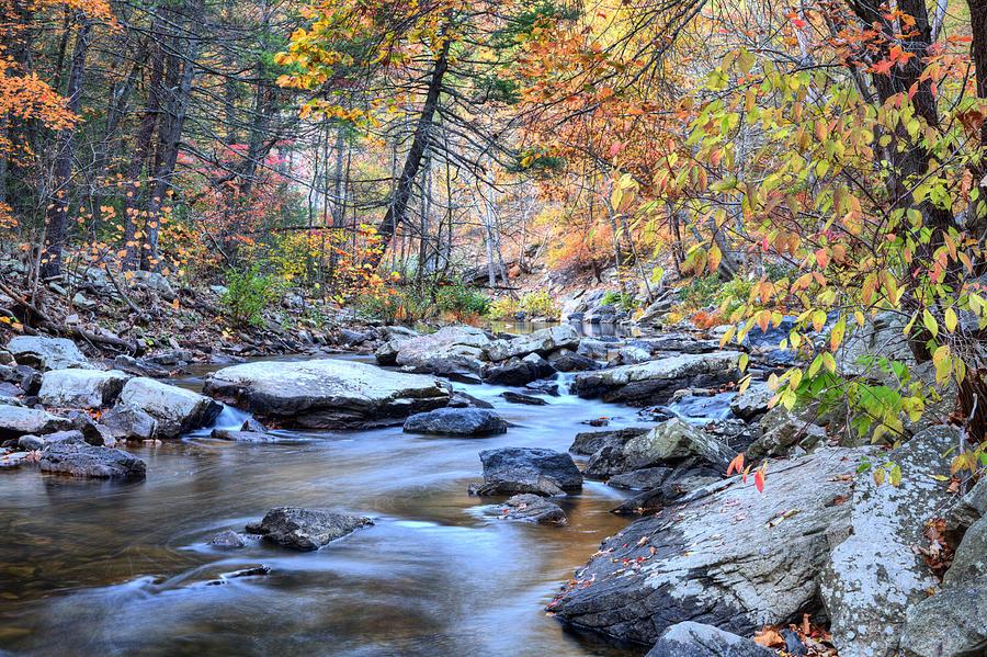 Mountain Stream Photograph - Crisp Autumn Air by JC Findley