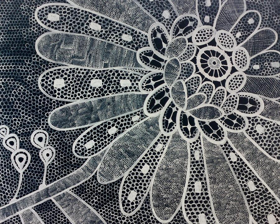 Landscape Photograph - Crochet Flower by Salwa  Najm