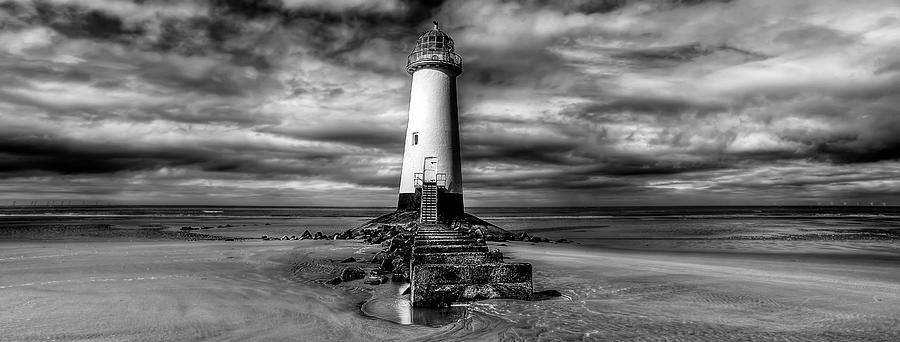Beach Photograph - Crooked Lighthouse by Adrian Evans