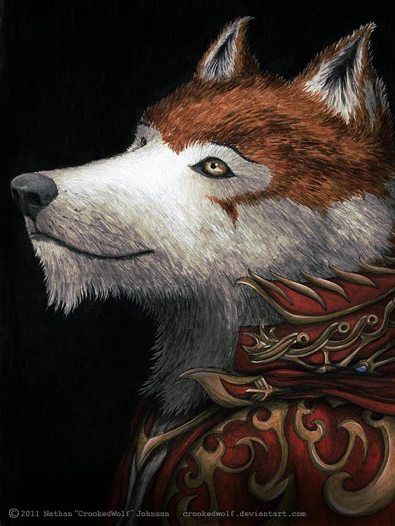 Crookedwolf Portrait Digital Art by Nathan Johnson