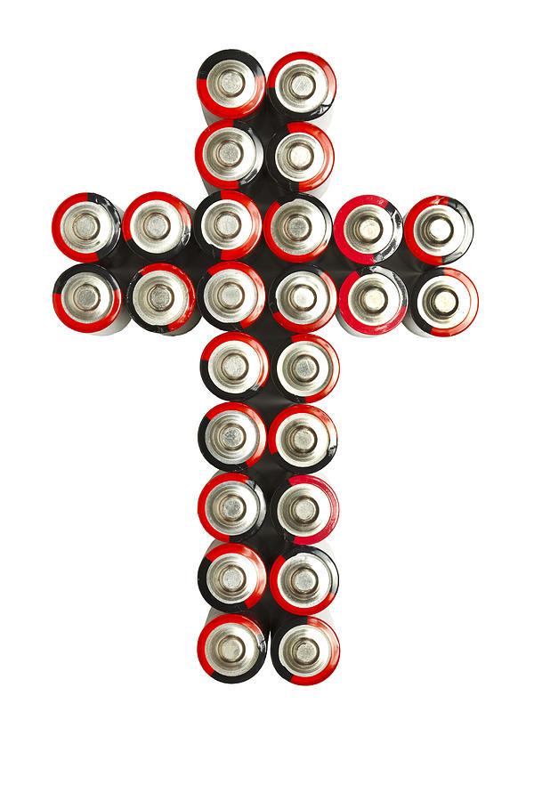Cross Photograph - Cross Batteries 2 by John Brueske