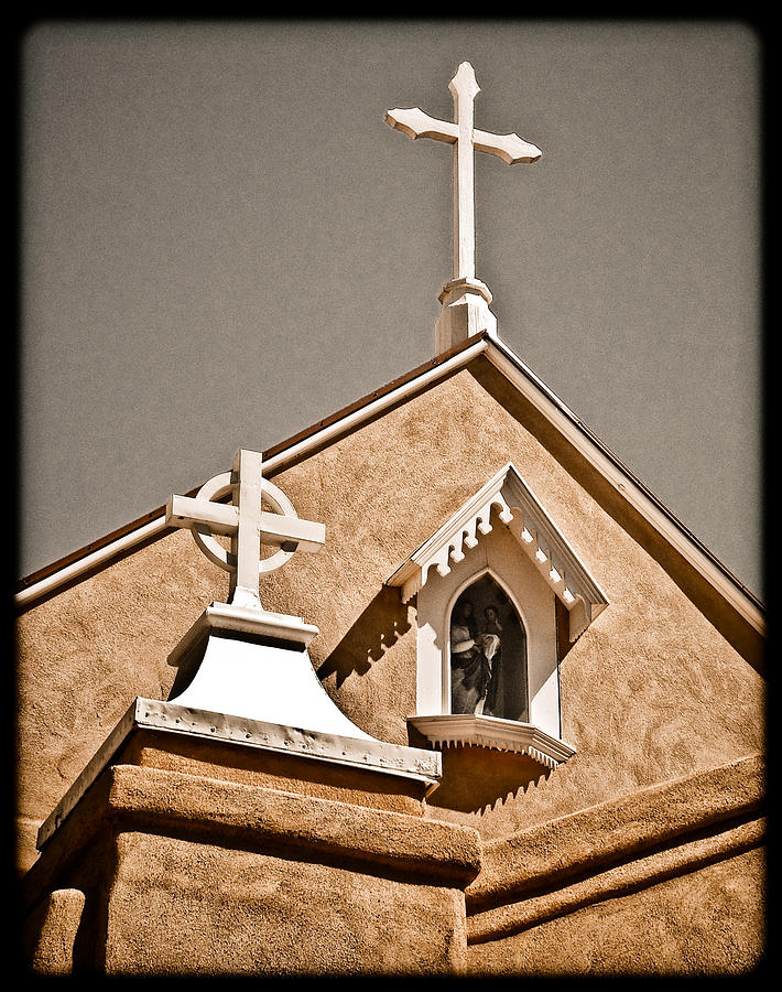 Church Photograph - Cross Gable by Mark Forte