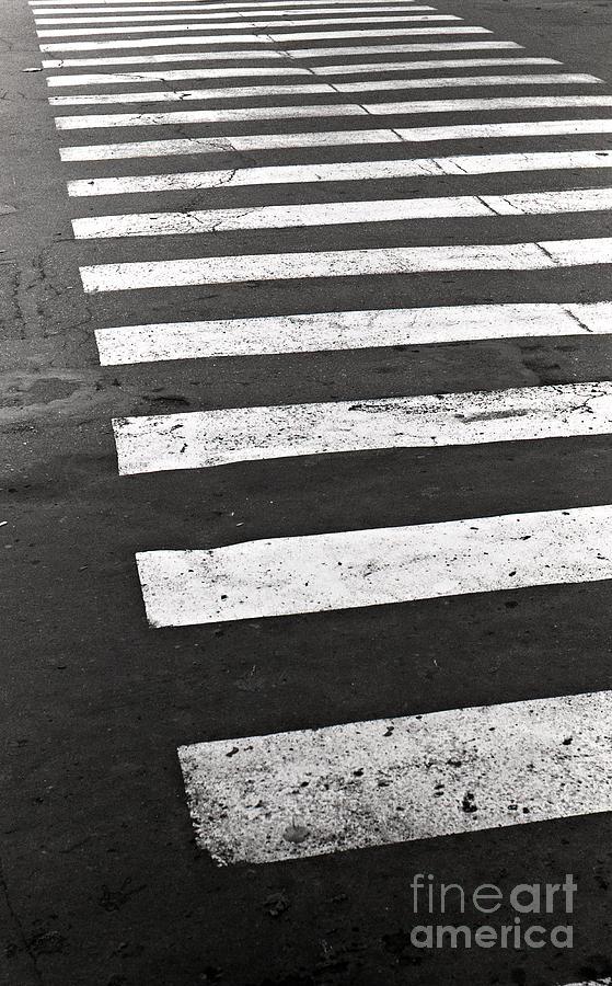 Film Photograph - Cross Walk by Gabriela Insuratelu