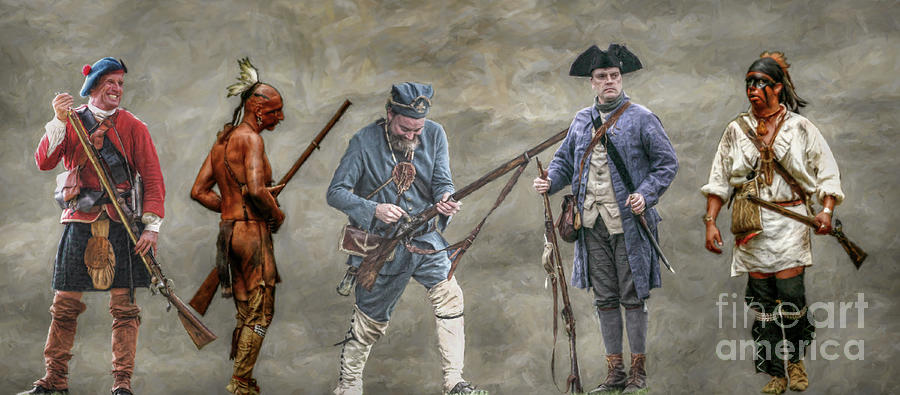Military Digital Art - Crossed Paths French And Indian War by Randy Steele