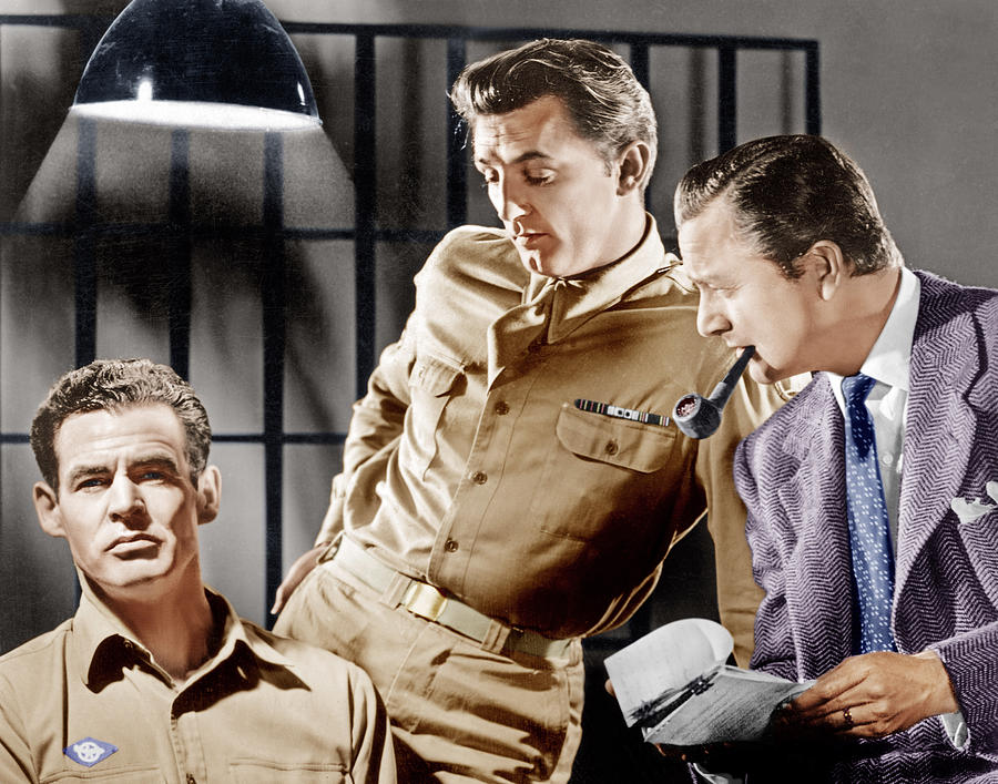 1940s Movies Photograph - Crossfire, From Left Robert Ryan by Everett
