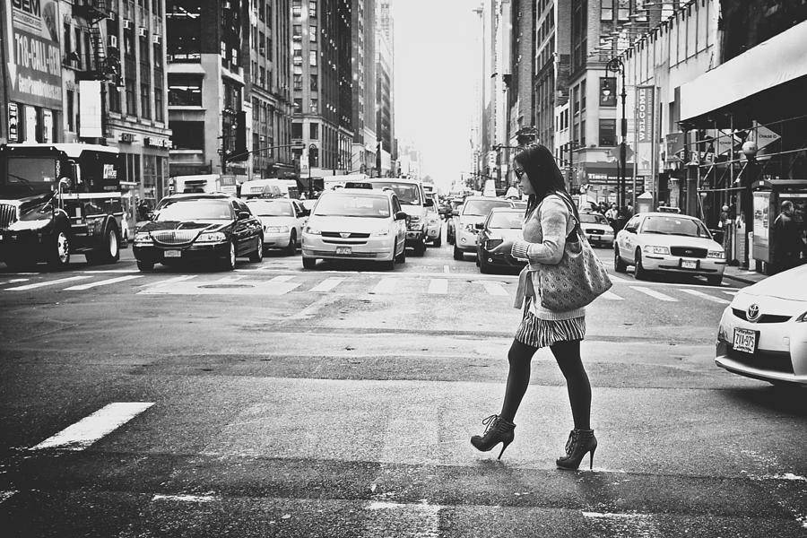 New York City Photograph - Crossing by Chris Gachot