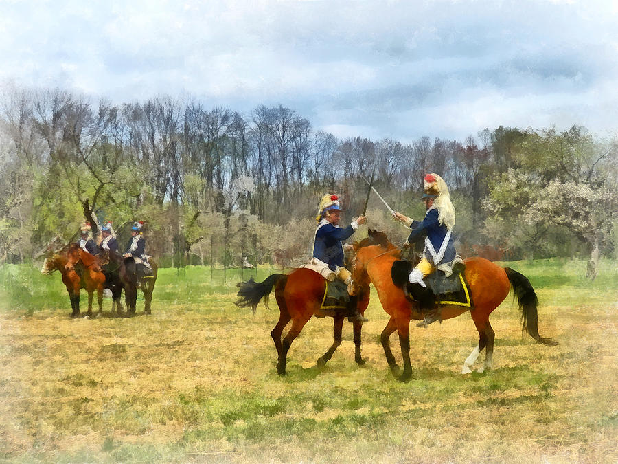 Revolutionary War Photograph - Crossing Sabers by Susan Savad